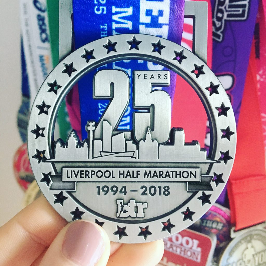 brt liverpool half marathon medal 2018